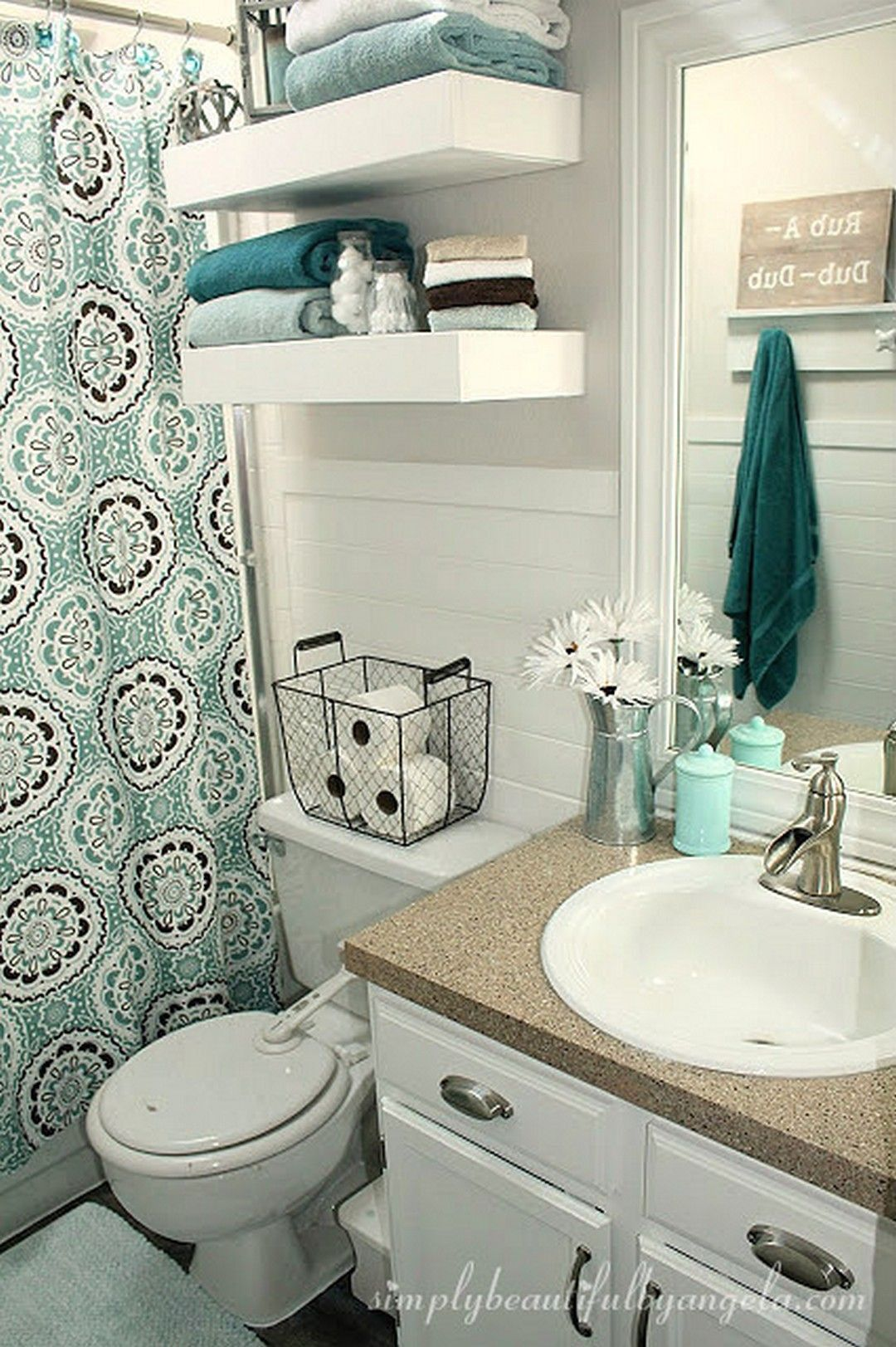 Ideas For Decorating Small Bathrooms 2021 Small Apartment Bathroom Bathroom Decor Small Bathroom Decor