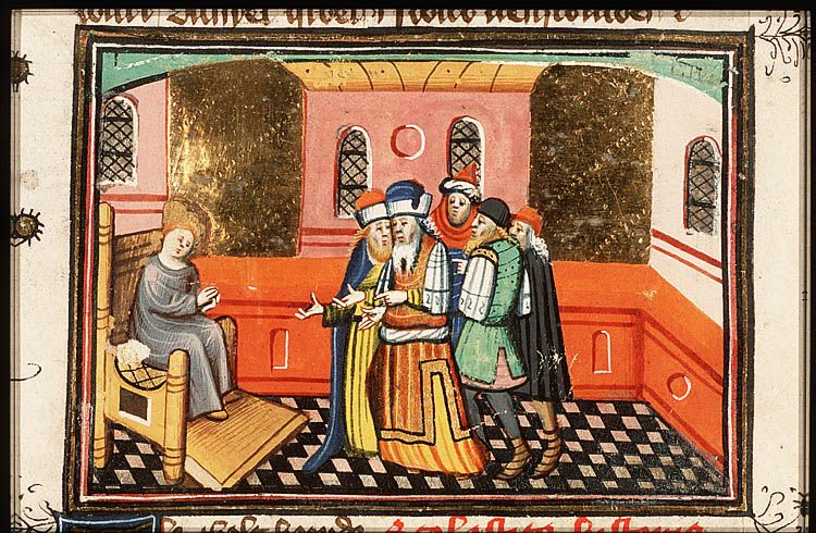 Daniel interrogates the two elders - Click photo for more images - National Library of the Netherlands