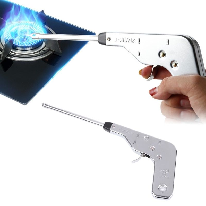 Mexi 1pc Electronic Spark Lighter Stainless Steel Lighter Fire Starter Maker Electronic Ignitor For Kitchen Fireplace Cuisine Dengan Gambar