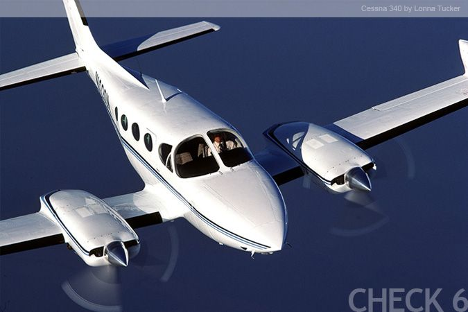 The Cessna 340 is a pressurized business aircraft with a
