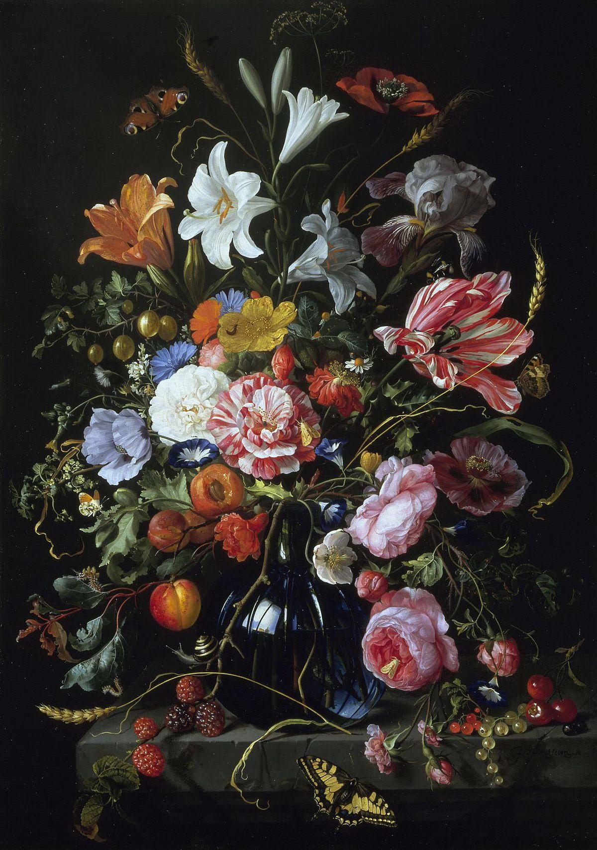 Www Oceansbridge Ca Paintings Collections Dutch Flemish Still Life Jan 20davidsz 20de 20heem 20 1606 20 2 Flower Painting Floral Painting Still Life Painting