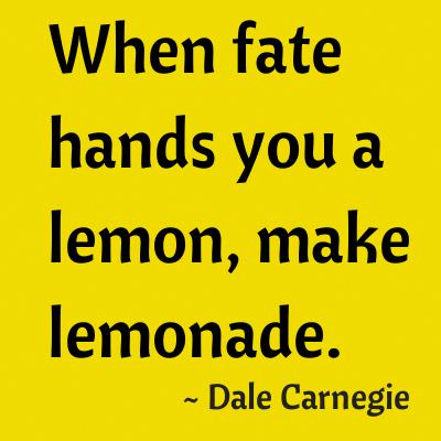 When Fate Hands Us Lemons NEW Motivational Classroom POSTER Dale Carnegie