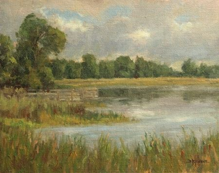 Serenity, Rowley's Bay by Debra Joy Groesser Oil ~ 11 x 14