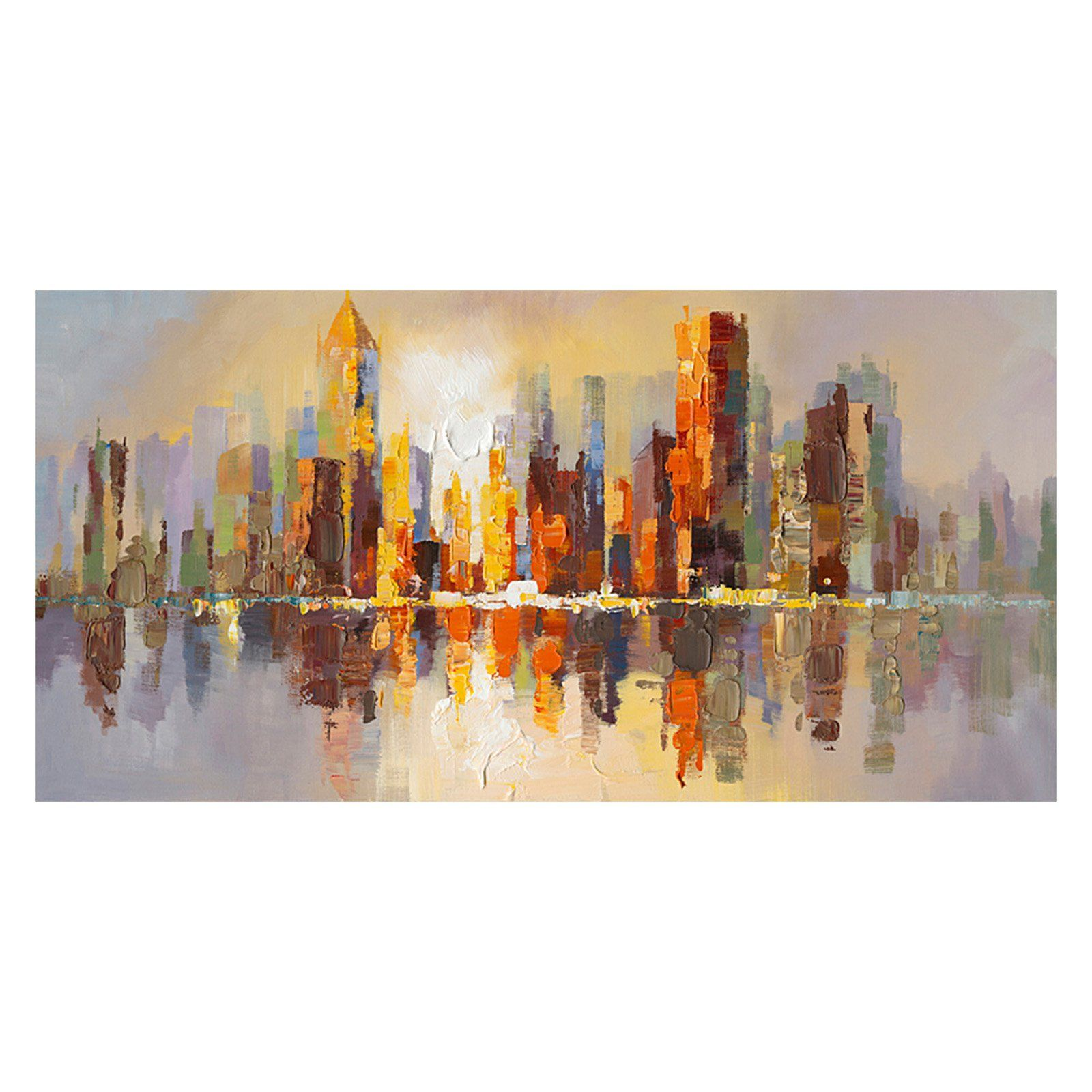 Moe's Home Collection City Life Hand Painted Wall Art - 55W x 28H in. | from hayneedle.com