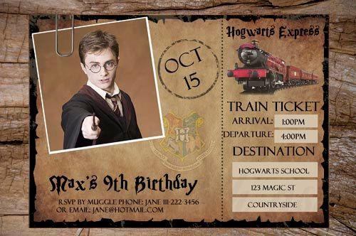 Harry Potter Compleanno Invito Biglietto Del Treno Harry