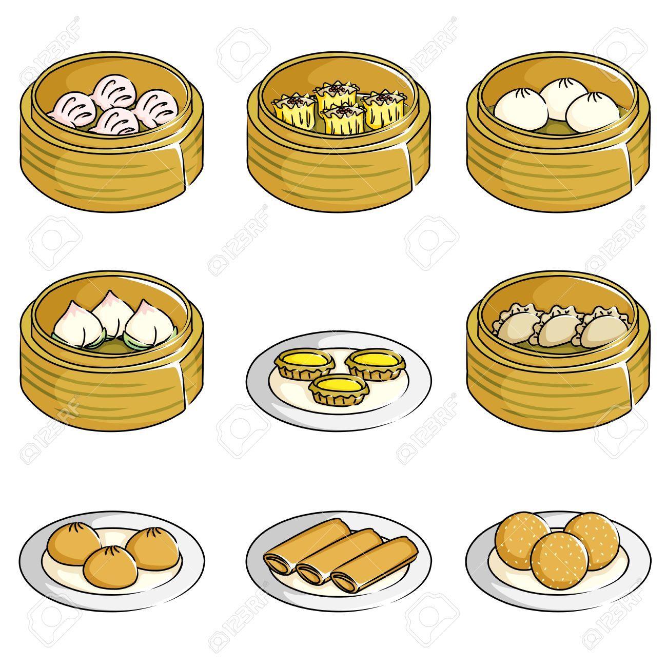 Image result for dimsum illustration Grafis, Stiker, Makanan