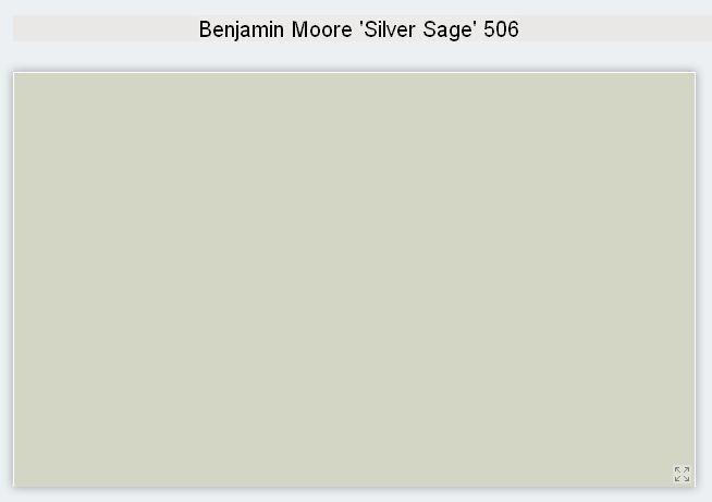 Benjamin Moore Interior Paint Color Silver Sage 506 Silvery