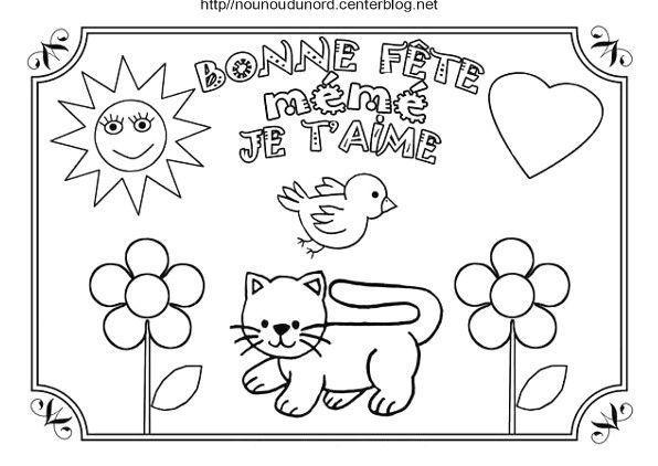 Coloriage Bonne Fete Meme Avec Chat Jpg Bon Anniversaire Maman Joyeux Anniversaire Maman Fete Des Mamies
