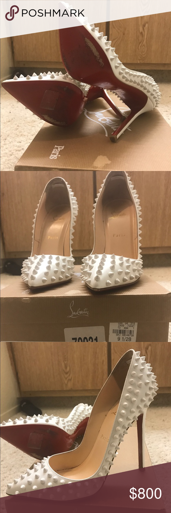 0fbb4ca64a1b Size 39.5 worn twice gently used Gently worn pumps. Rare find Christian  Louboutin Shoes Heels