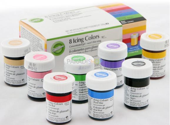 Colorantes en gel Wilton, set de 8 tintes para teñir repostería de ...