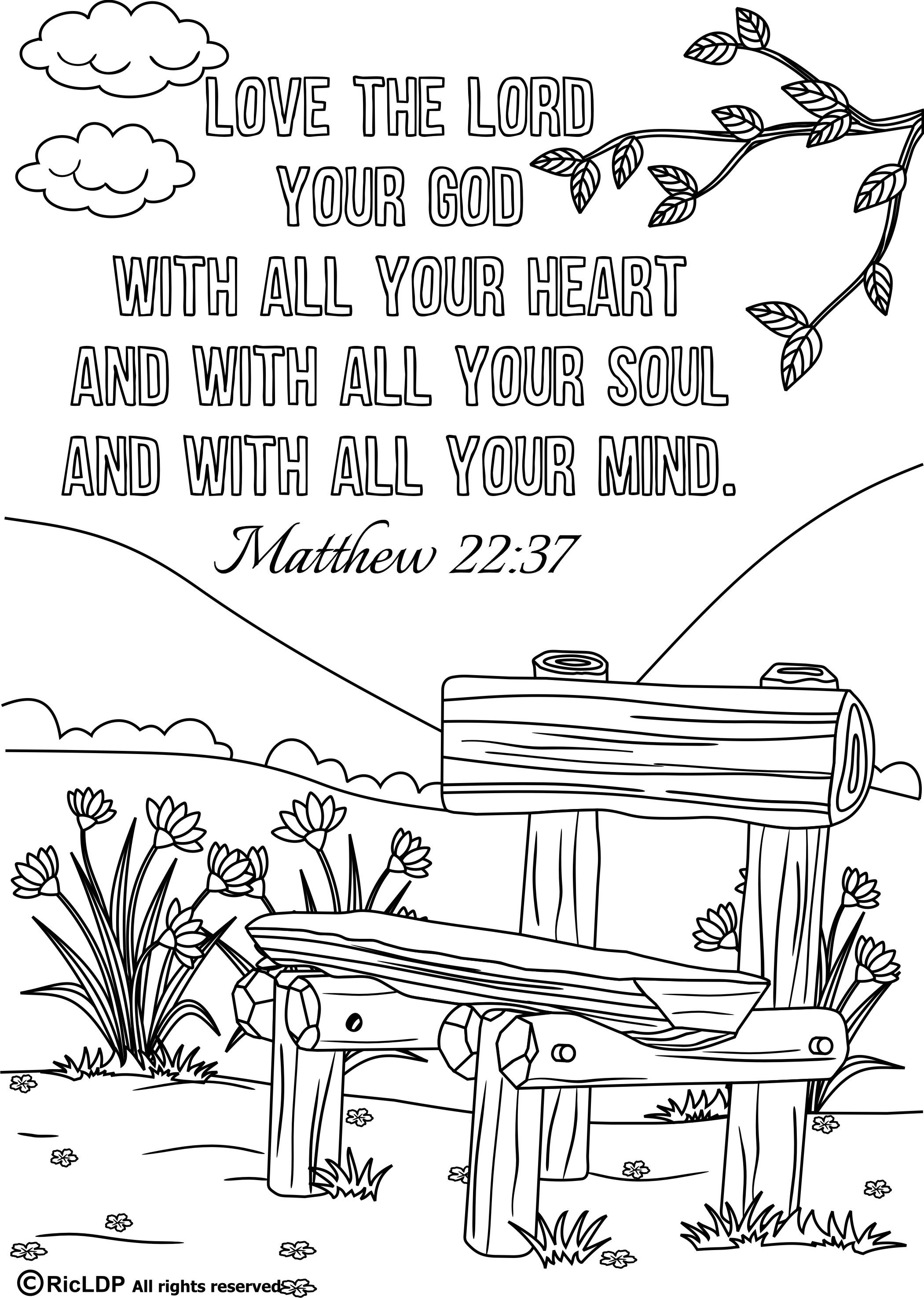 Coloring Pages Pdf : Printable bible verse coloring pages verses