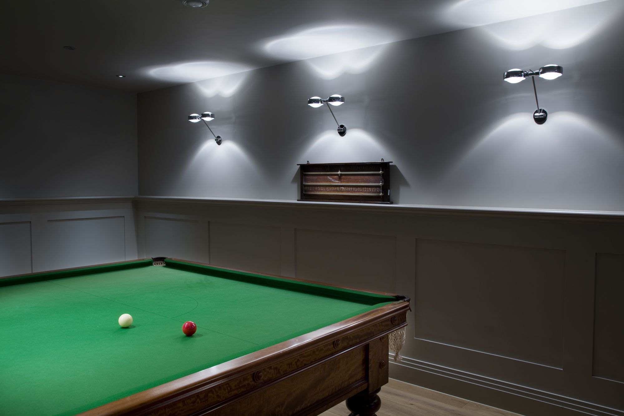 Lighting Design Project Snooker Room Occhio Sento Parete