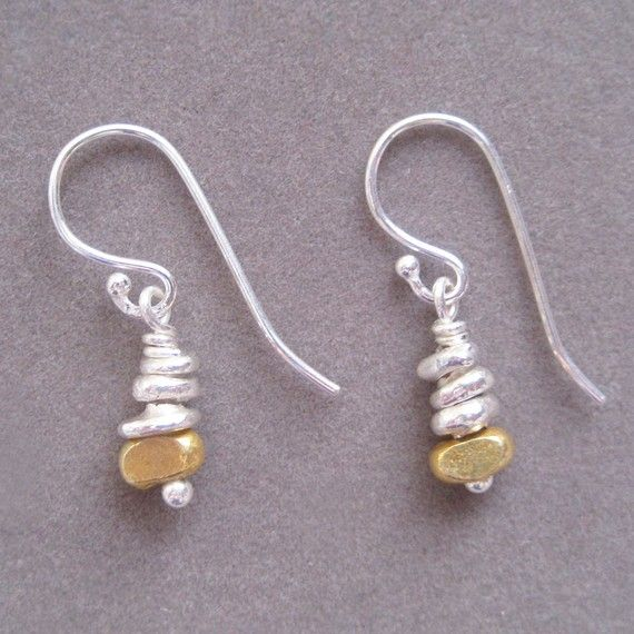 Mini Cairns Sterling Silver 24k Gold Plate Vermeil by ArtistaTree, $25.00