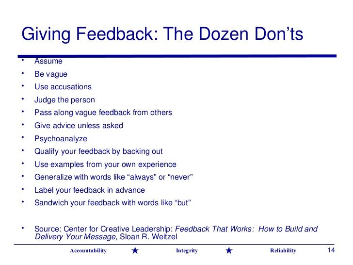 10 ways to give effective feedback - Google Search MENTORING AND - coach feedback form