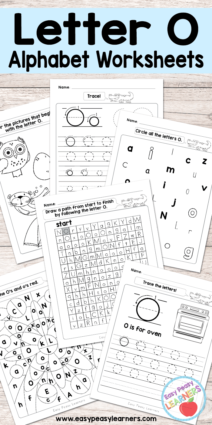 Free Printable Letter O Worksheets - Alphabet Worksheets Series ...