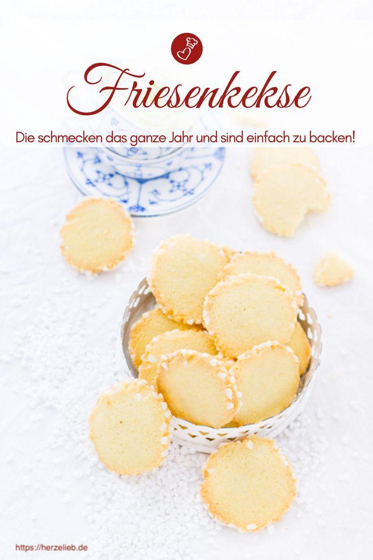 Friesenkekse Rezept - nordfriesisches Mürbeteig-Gebäck backen