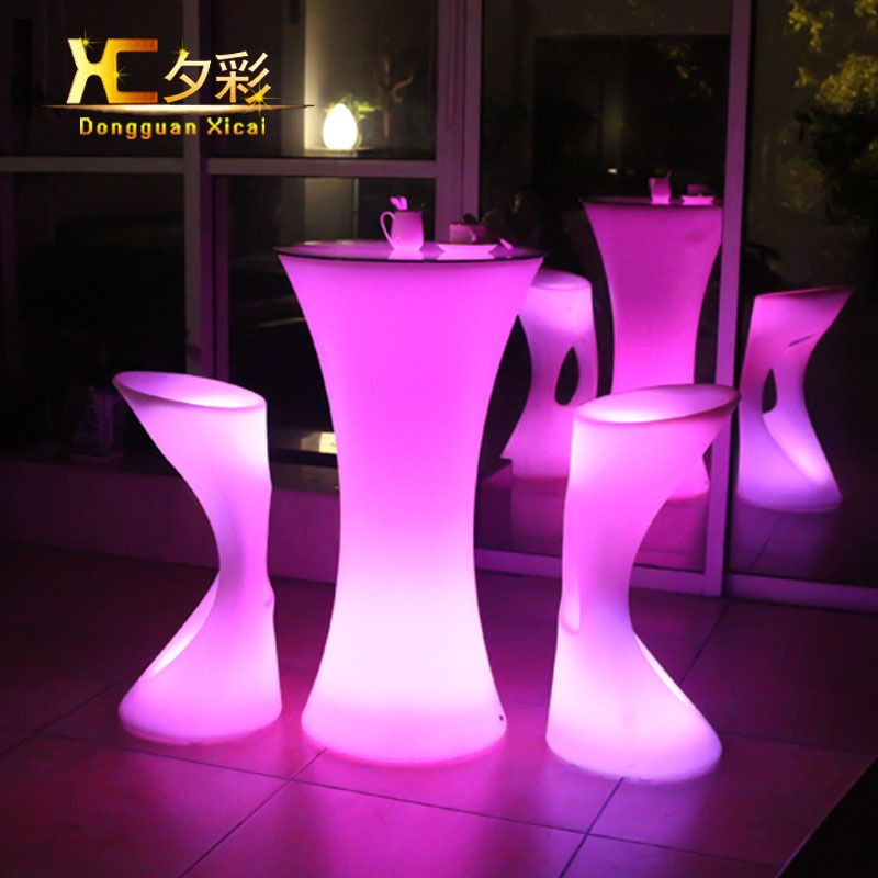 LED Stehtisch Kunststoff Leuchtmöbel Hohe Whisky Cocktail Trinken - tisch für wohnzimmer