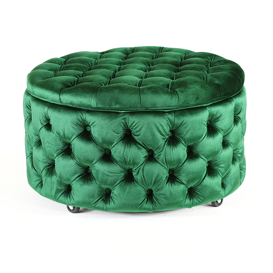 Swell Emma Storage Ottoman Large 75Cm Emerald In 2019 Green Evergreenethics Interior Chair Design Evergreenethicsorg