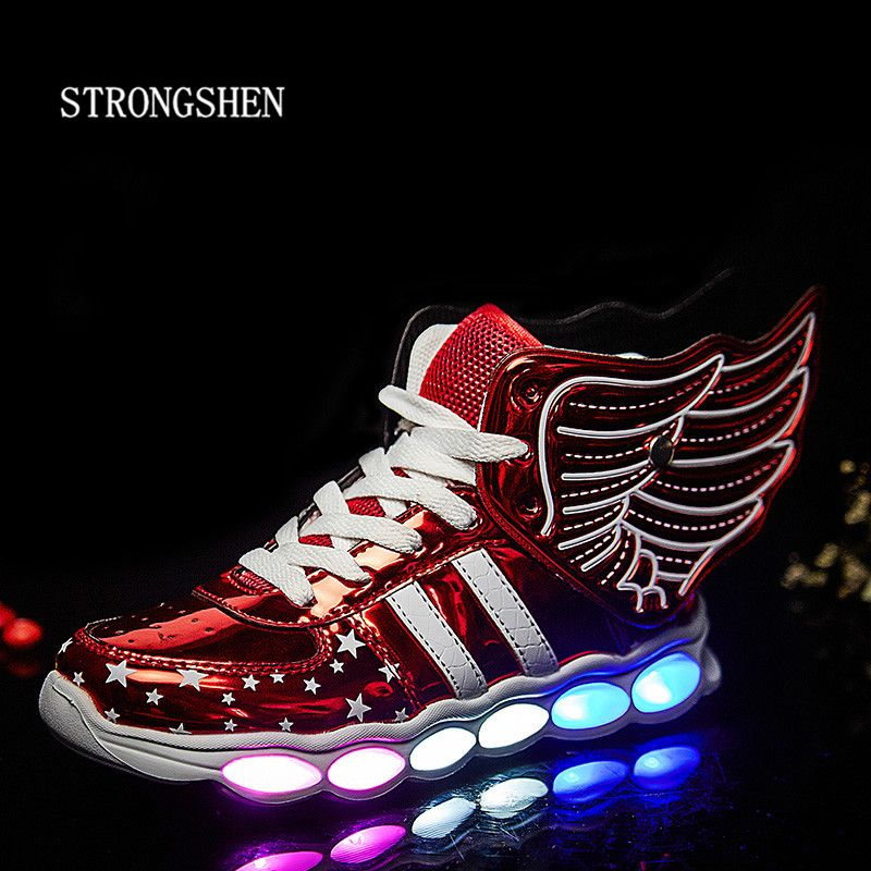 5db5e1332 STRONGSHEN Led Children Shoes 2017 USB Charging Basket Shoes With Light Up  Kids Casual Boys Girls Luminous Sneakers Glowing Shoe   Price   43.60    FREE ...