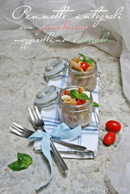 Letizia in Cucina: Pennette integrali con pomodorini, mozzarelline e ...