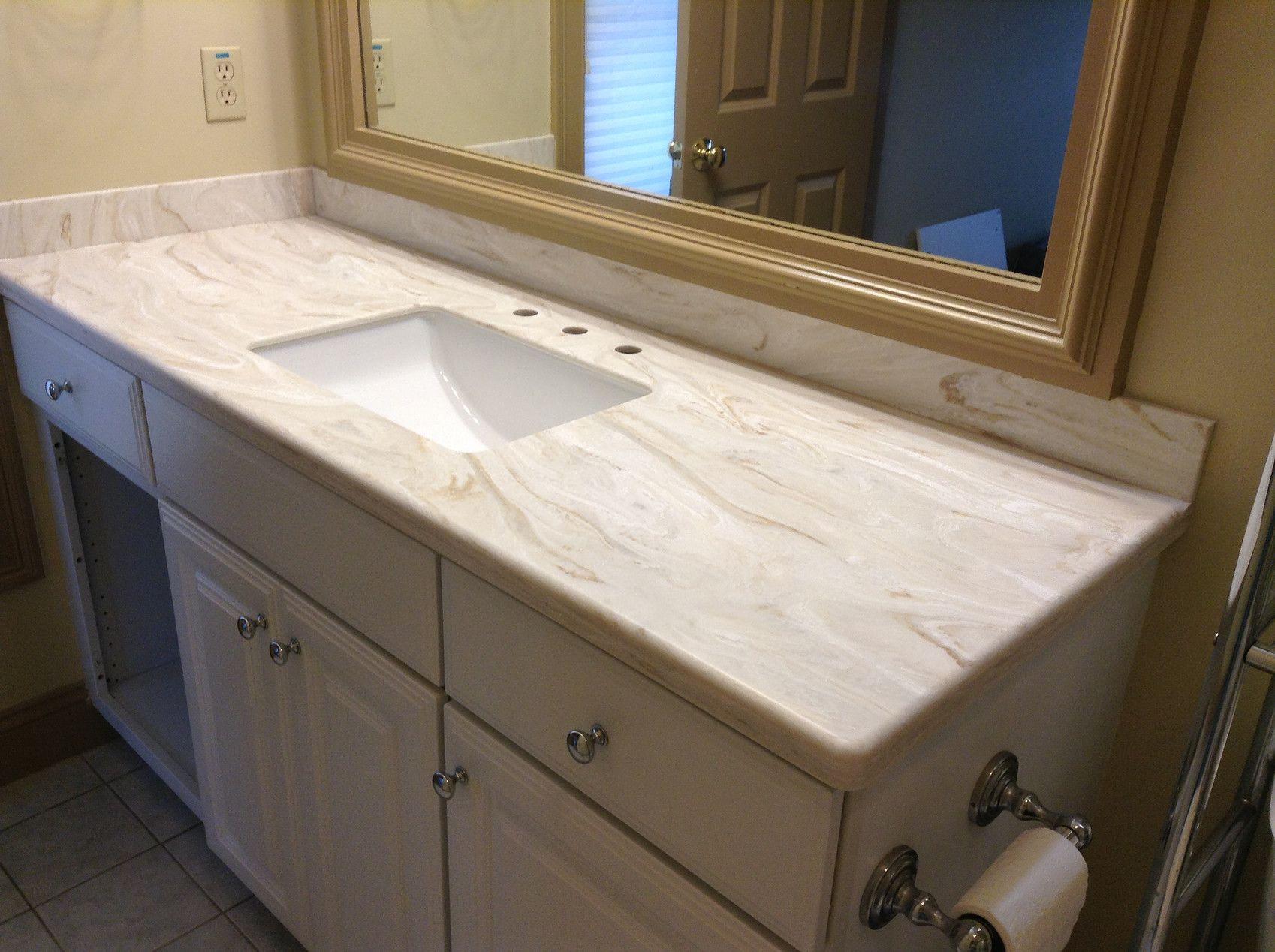 Corian Dune Prima Countertops Corian Solid Surface Bathroom renovation danbury ct