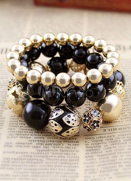 Black Bronze Modern Bracelet For Woman - Milanoo.com #bracelet