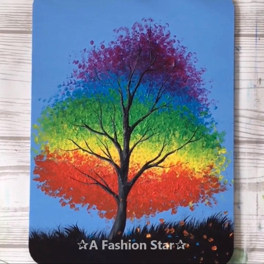 9 Easy Painting Ideas For Beginner Art For Home Decor Tree Art Video Painting Tree Art Beginner Painting
