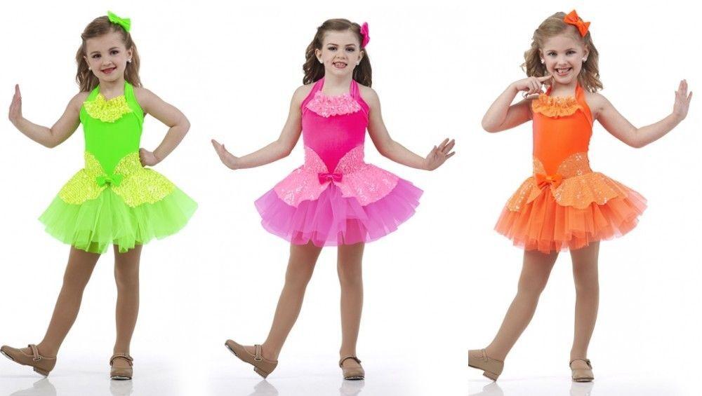 8358d3f1630d I Want Candy Orange,Pink,Flo Green Ballet Tutu Tap Dance Costume Child &  Adult #Cicci