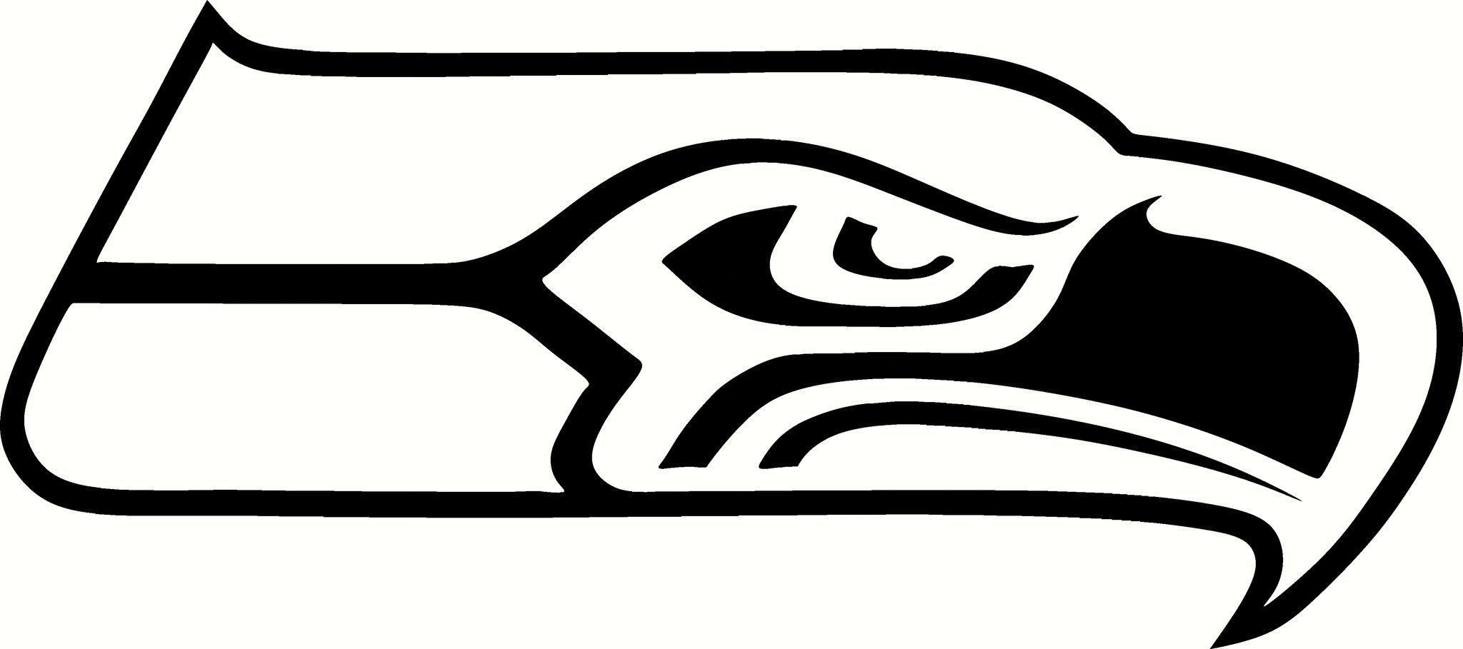 Seattle Seahawks LOGO Vinyl Cut Out Decal - Choose your Color and ...