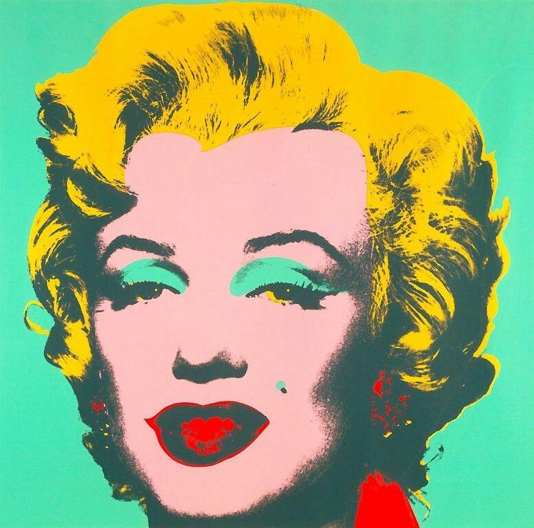Andy Warhol's Marilyn Monroe portrait.