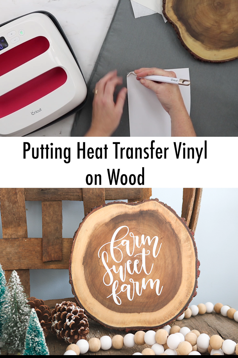 How to Put Heat Transfer Vinyl on Wood