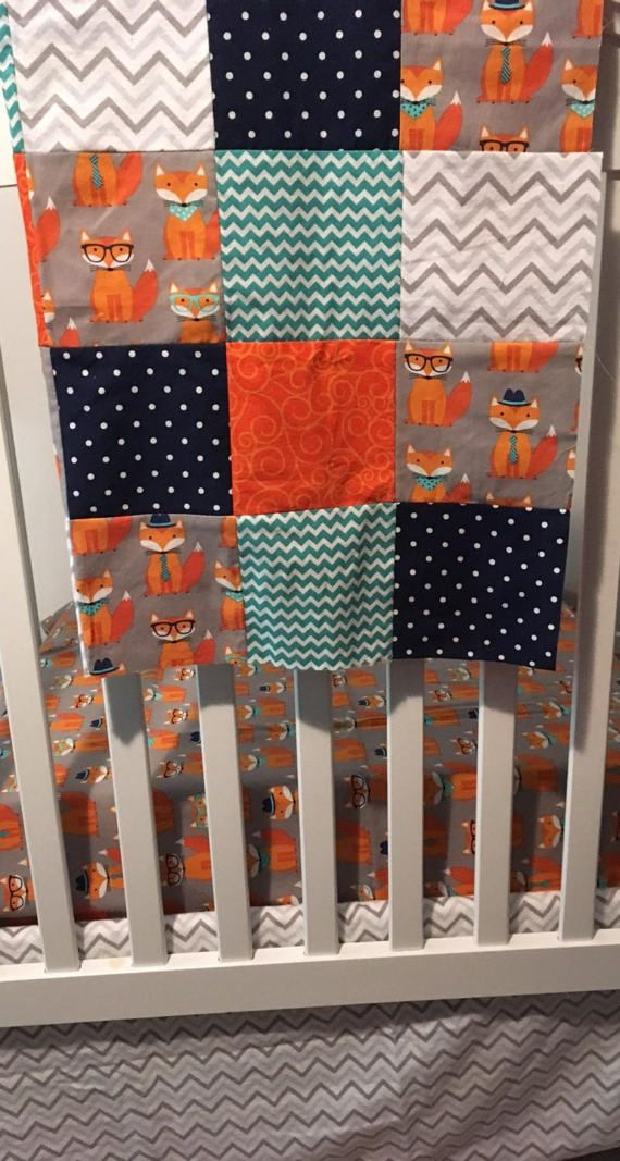 Woodland Crib Bedding Set Fox Baby Blanket Fox Quilt Baby Etsy Woodland Crib Bedding Set Woodland Crib Bedding Baby Boy Nursery Bedding