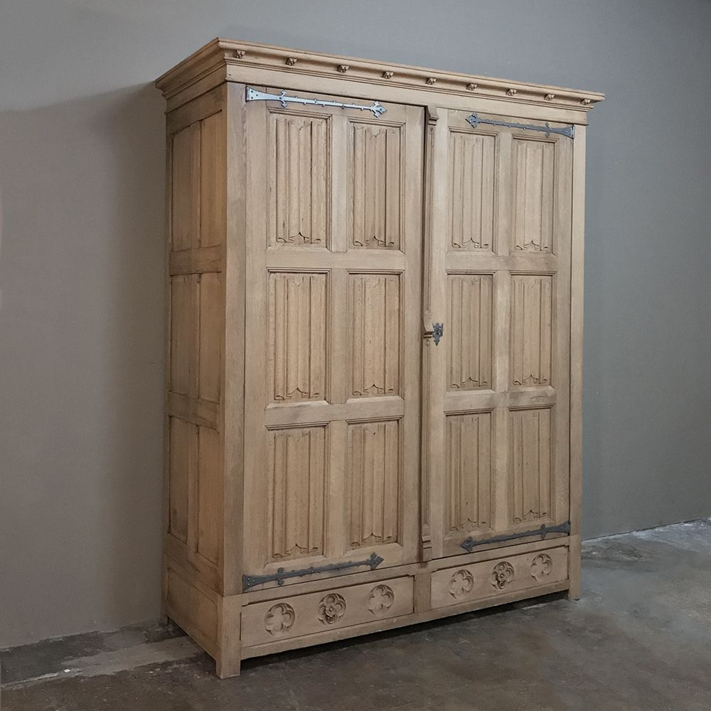 19th Century Rustic Gothic Armoire With Images Armoire