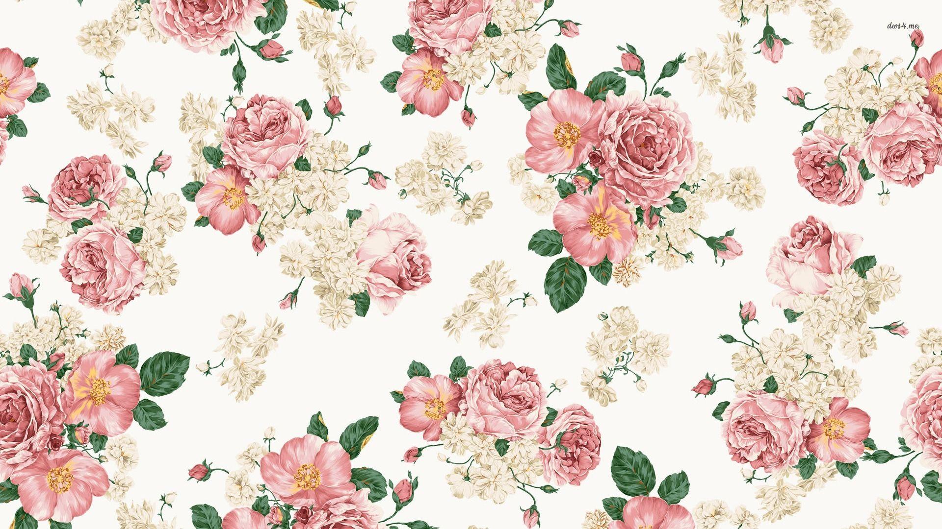 Vintage Roses Wallpaper In 2020 Vintage Flowers Wallpaper Vintage Floral Backgrounds Floral Pattern Wallpaper