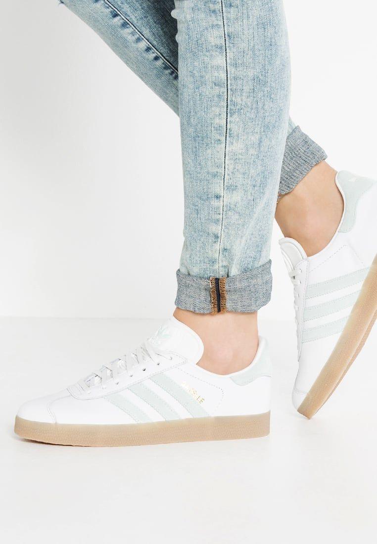 cdf1a3f44f1 Schoenen adidas Originals GAZELLE - Sneakers laag - vintage white/vapour  green Gebroken wit: € 99,95 Bij Zalando (op 3-8-16).