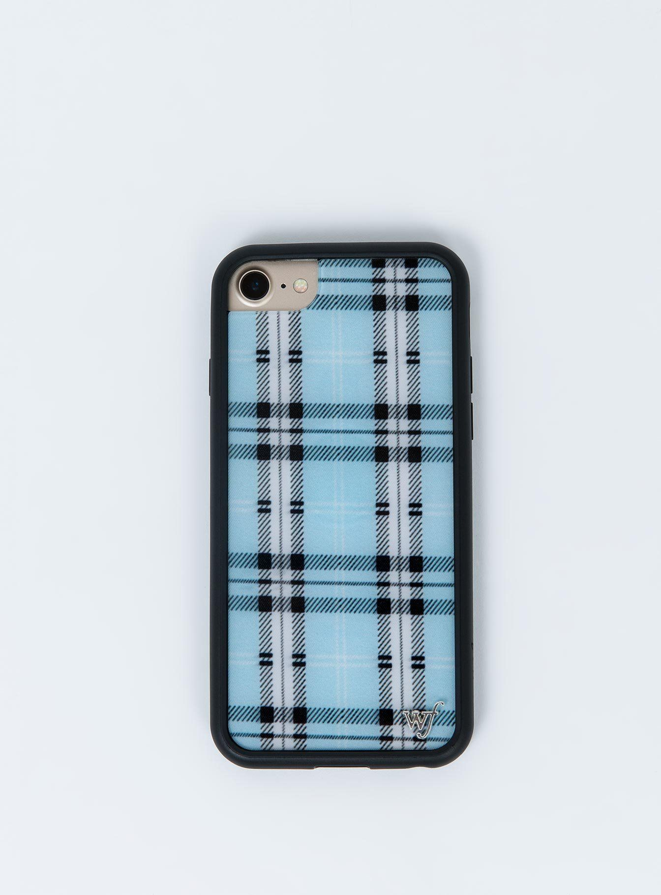 Wildflower Blue Plaid iPhone 6/7/8 Case iPhone 6/7/8