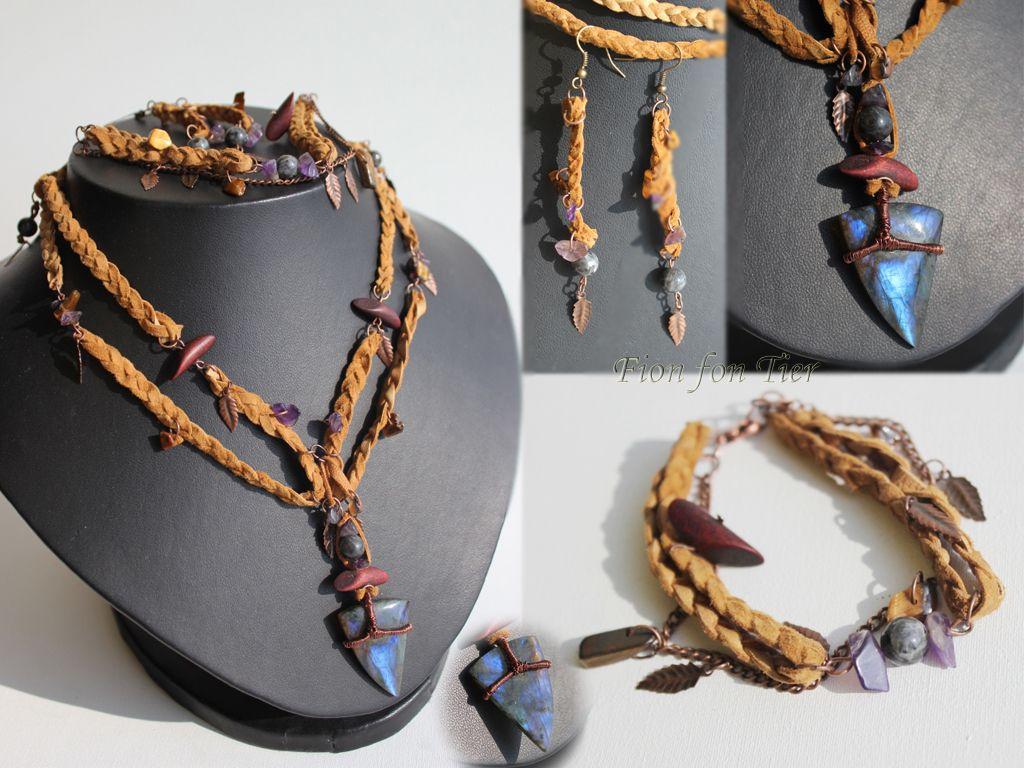Pretty jewelry design.  Elhaz jewelry set by fion-fon-tier