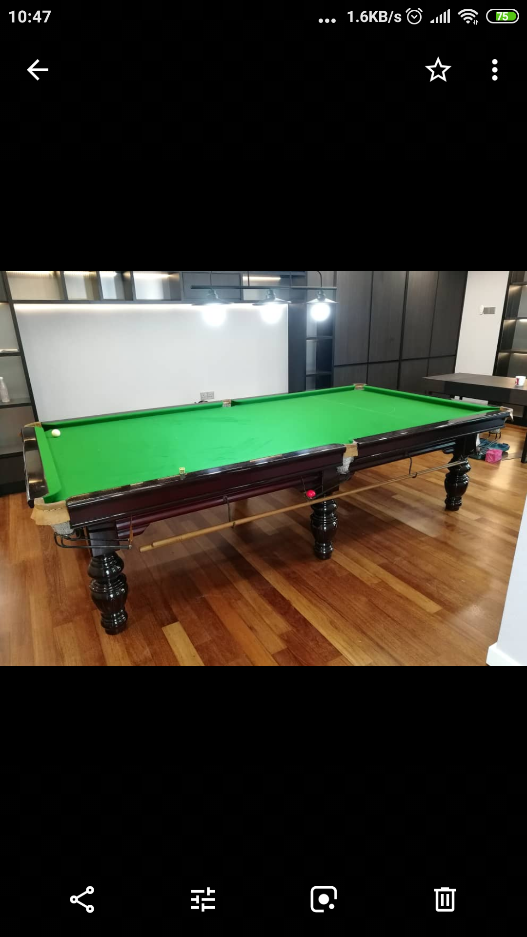 10 Foot Snooker Table Just Reclothed In Time For Cny Relocation
