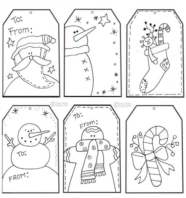 5 etiquetas navideñas de regalo ¡para imprimir gratis | Manualidades ...