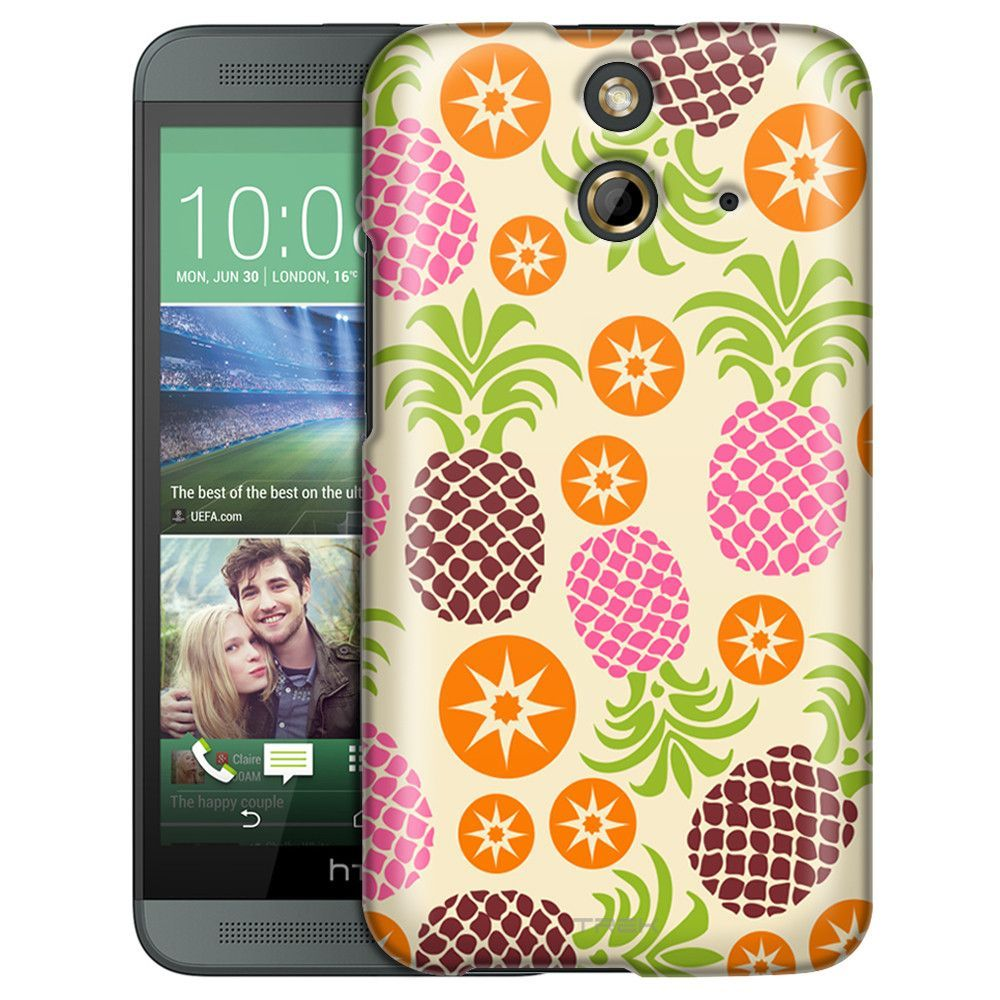 HTC One E8 Cute Pineapples and Starts Slim Case