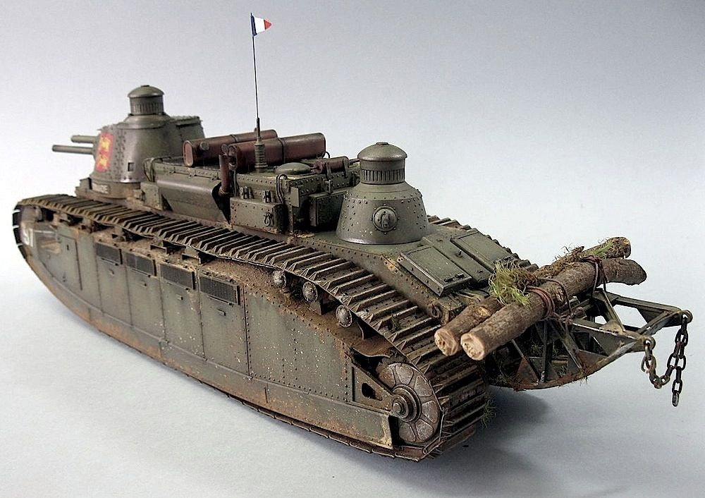 Char FCM 2C Military modelling, Plastic models, Tiger tank