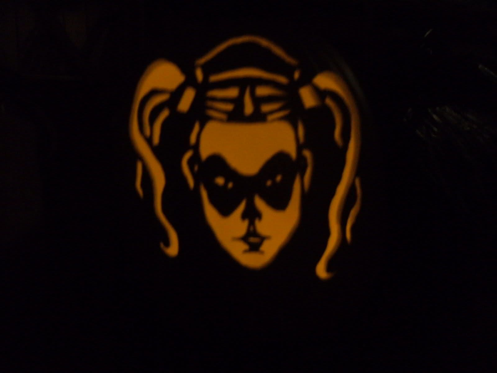 harley quinn pumpkin template  Pin on Pumpkin Carving
