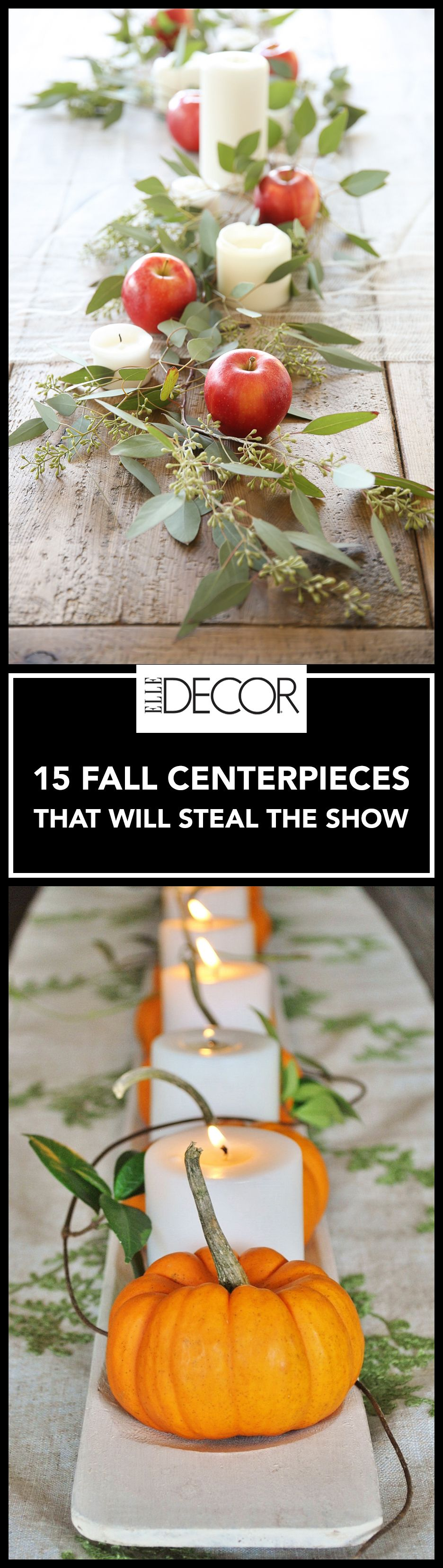 Fall decor for wedding  Fall Centerpieces That Will Complete Your Seasonal Soirée
