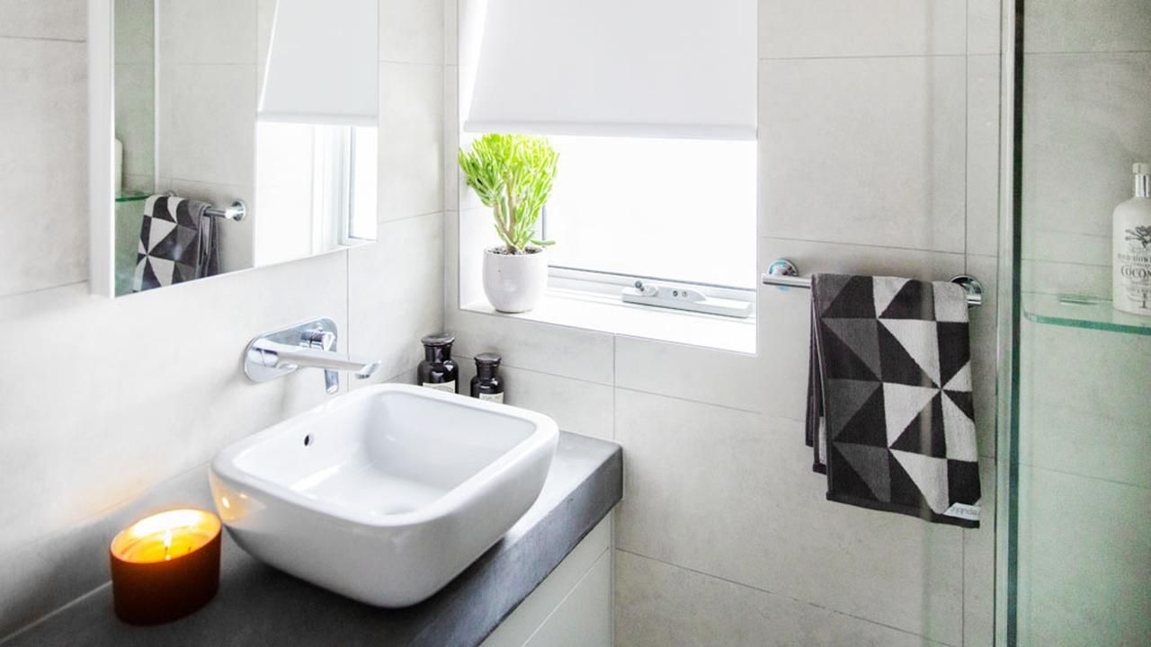 Caro and Kingi\'s first ensuite on The Block | bathrooms | Pinterest ...