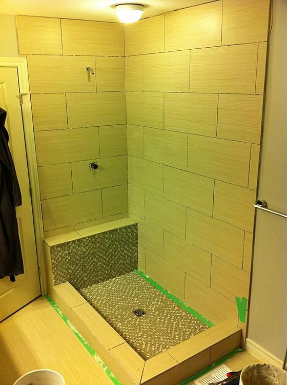 Percentage Of Staggering Tile Based On Size What X Shower - Bathroom tile size advice