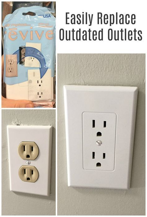 Our new house has the old beige electrical outlets from the 80\'s ...