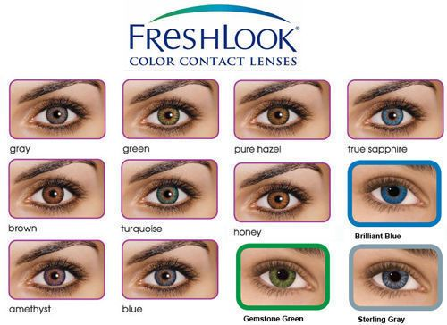Lentilles De Couleur Freshlook Colorblends Color Lenses 1 Year Use