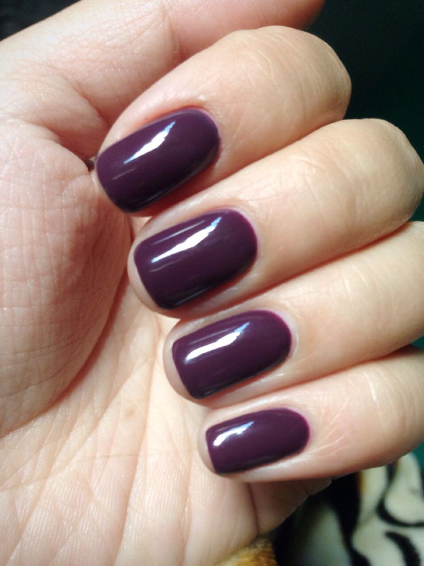 Dark plum gel color. Ready for fall! | Nails! Pretty nail designs ...