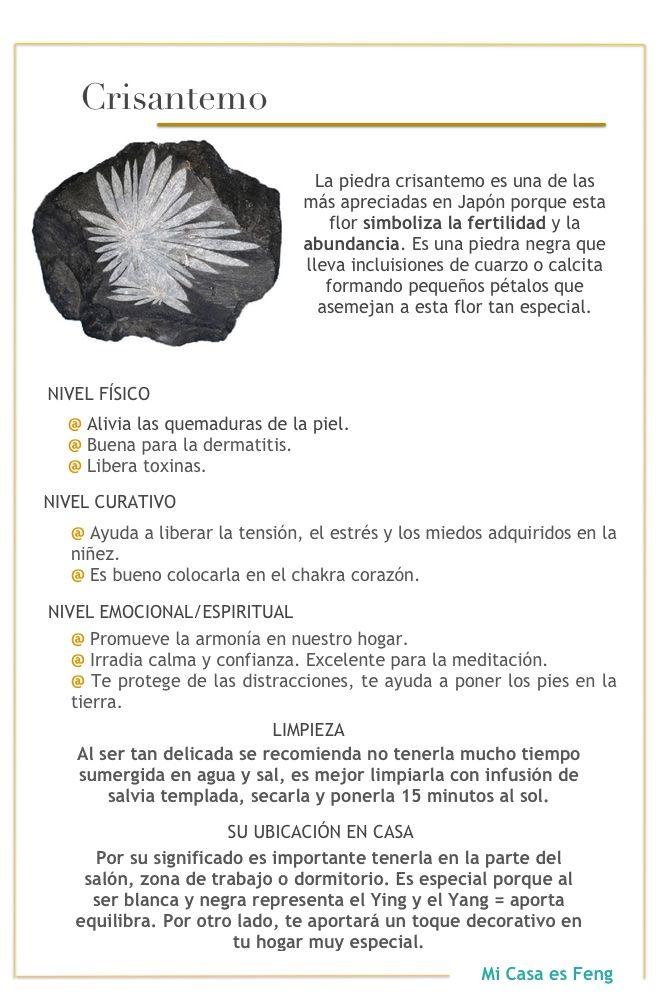 Piedra crisantemo esoterico healing stones crystals - Propiedades piedras naturales ...