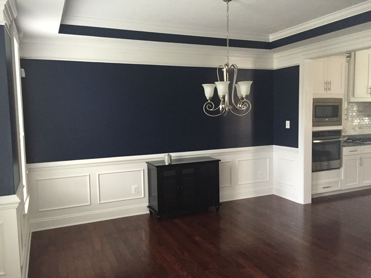 Absolutely Love This Navy Blue Color In Our Dining Room Sherwin Williams Naval